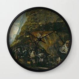 Francisco de Goya - Pilgrimage to the Fountain of San Isidro Wall Clock