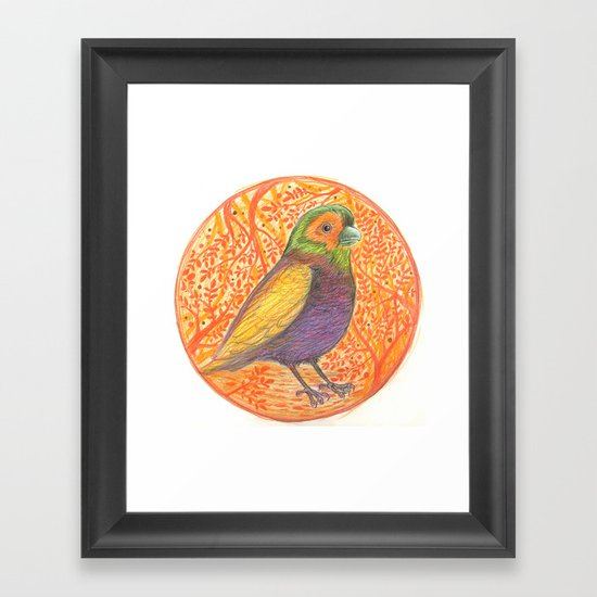 Bird in a Thicket Framed Art Print