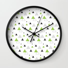 cactus triangle Wall Clock
