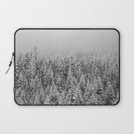 Black and White Snowy trees Laptop Sleeve
