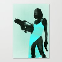 resident evil Canvas Prints featuring Resident Evil by LynxArtCollection