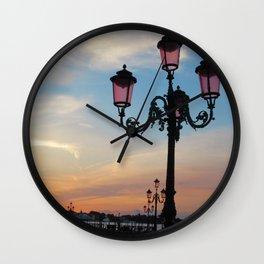 Venice at Dawn 2 Wall Clock