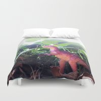 dinosaur Duvet Covers featuring Dinosaur by cafelab