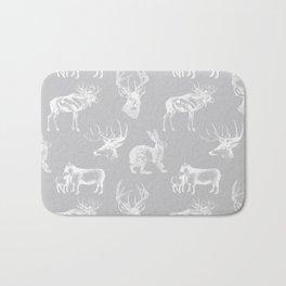 Woodland Critters in Grey Bath Mat
