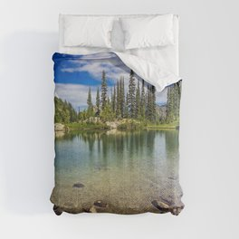 Mountain Lake in the Mt Rainier National Park Comforters