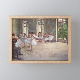 Ballet Rehearsal 1873 By Edgar Degas | Reproduction | Famous French Painter Framed Mini Art Print