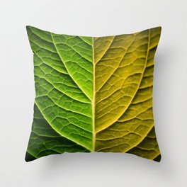 Abstract of Green Leaf Artistic Illustration Throw Pillow