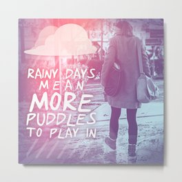 PUDDLE Metal Print