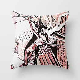 Hanging Out With Friends Throw Pillow