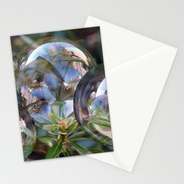 Flower bubbles Stationery Cards