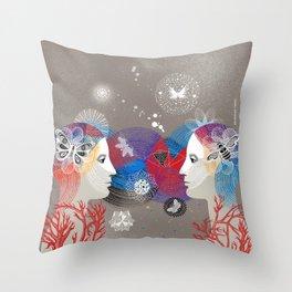 Twins Art Dream Throw Pillow