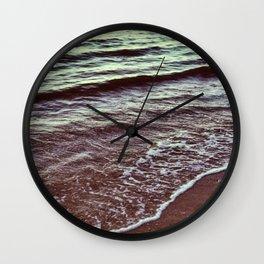 Green Ocean Waves Wall Clock