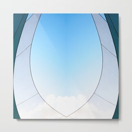 Abstract Sailcloth c3 Metal Print