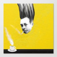 camus Canvas Prints featuring Albert Camus by Zmudart