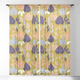 Jolene #illustration #pattern Sheer Curtain
