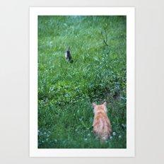 Rabbit and Robber Art Print