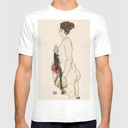 Standing Nude woman with a Patterned Robe (1917) T-shirt