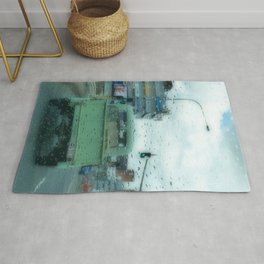 Rainy Days and Vintage Vehicles Rug