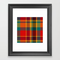 Summer Plaid 2 Framed Art Print