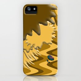 Shades of Brown Waves iPhone Case
