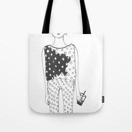 iced coffee and poka-dots Tote Bag