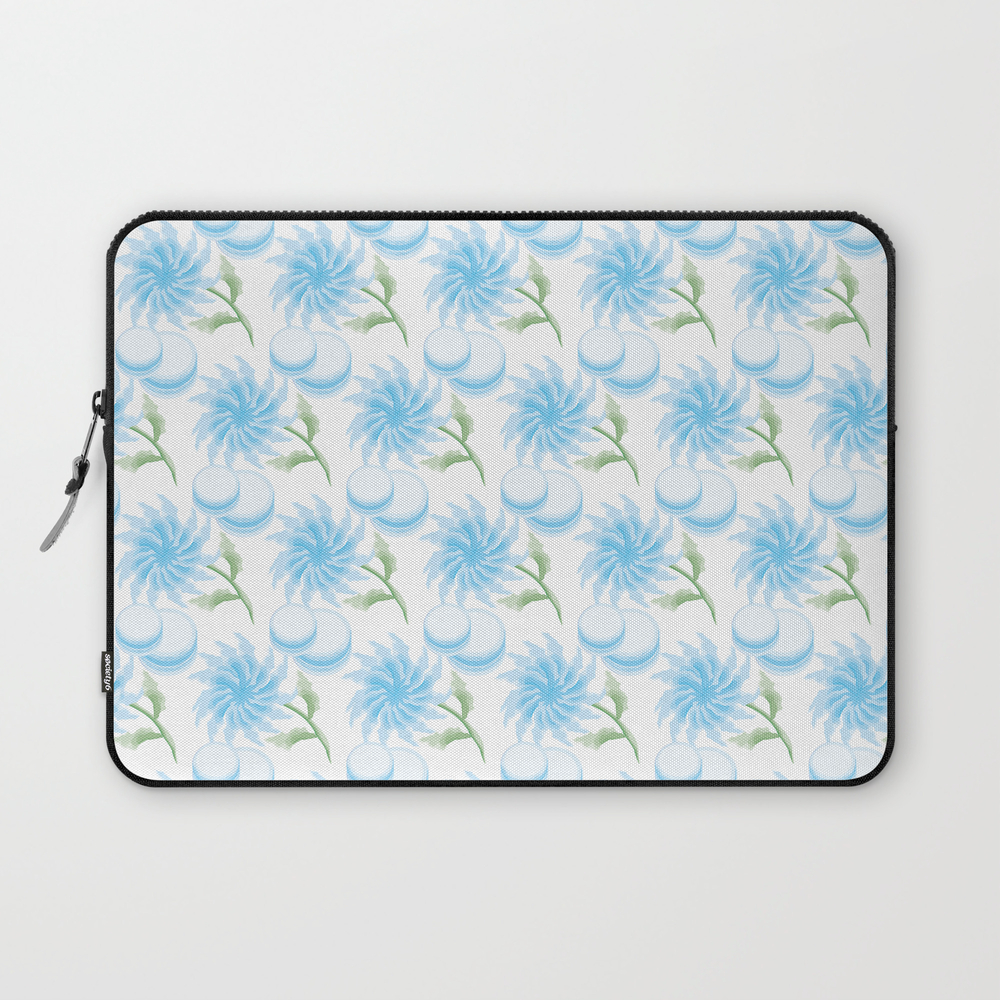 Bouquet From Chrysanthemum, Gerbera, Watercolor, M… Laptop Sleeve LSV8538586