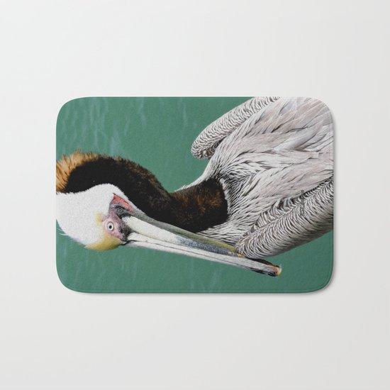 Brown Pelican Upstanding Bath Mat