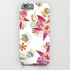 Tropical Flowers Watercolor iPhone 6s Slim Case