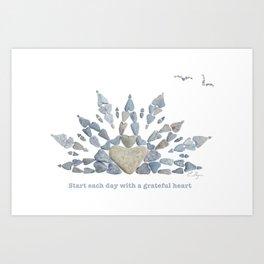 Start each day with a grateful heart Art Print