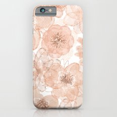 Flowers and Lace- Floral pattern in pink Slim Case iPhone 6
