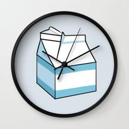 Milk Carton Light Blue Wall Clock