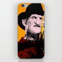 freddy krueger iPhone & iPod Skins featuring Horror Series Pop Art: Freddy Krueger by AlyBee