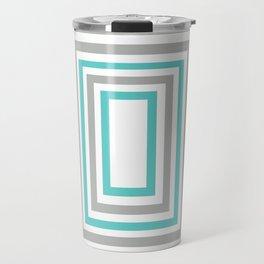 Aqua color & Gray Travel Mug