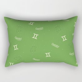 Gemini Pattern - Green Rectangular Pillow