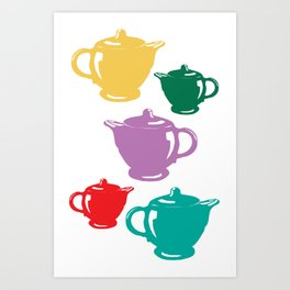 Favoriteware Teapots Art Print