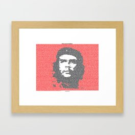 Typographical print of Guerrilla Warfare by Che Guevara Framed Art Print