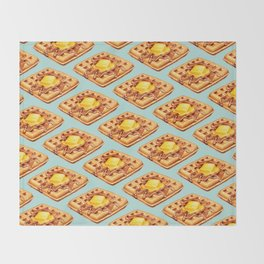 Waffle Pattern Throw Blanket