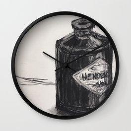 Gin and Charcoal Wall Clock