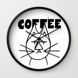 FelTipCat - Coffee Cat Wall Clock