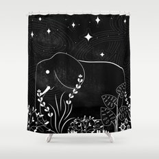 Elephant and Stars Shower Curtain