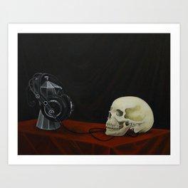 Coffee… Music! Death Art Print