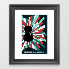 Shostakovich Cello Concerto Framed Art Print