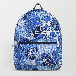 Sapphire Crochet Mandala Backpack