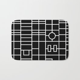 Map With Roundabout Bath Mat