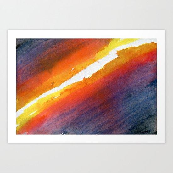 Energy Gradient Art Print