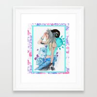 aries Framed Art Prints featuring Aries by Sara Eshak