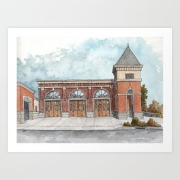 Clovis Fire Station #1 Art Print