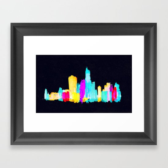 Colour City Framed Art Print