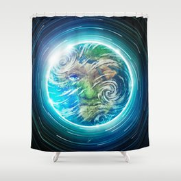 Earth II Shower Curtain