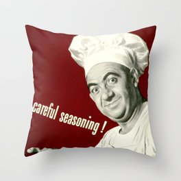 WANNA KNOW MY SECRET? CAREFUL SEASONING Throw Pillow